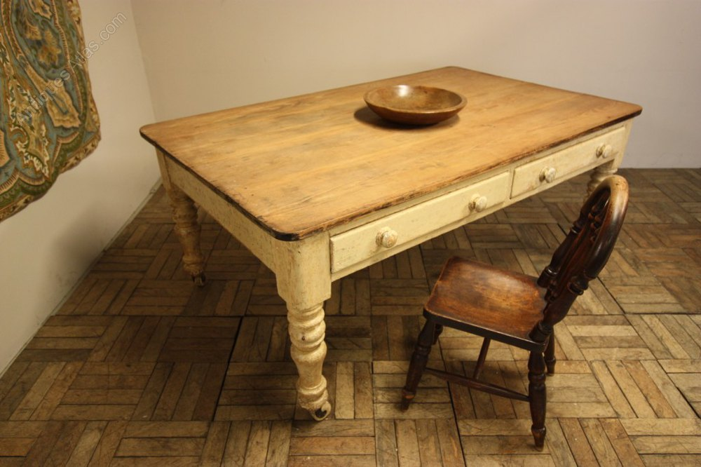 vintage painted kitchen tables photo - 4