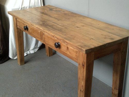 vintage pine kitchen tables photo - 10