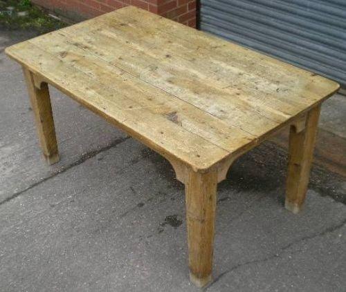 vintage pine kitchen tables photo - 2