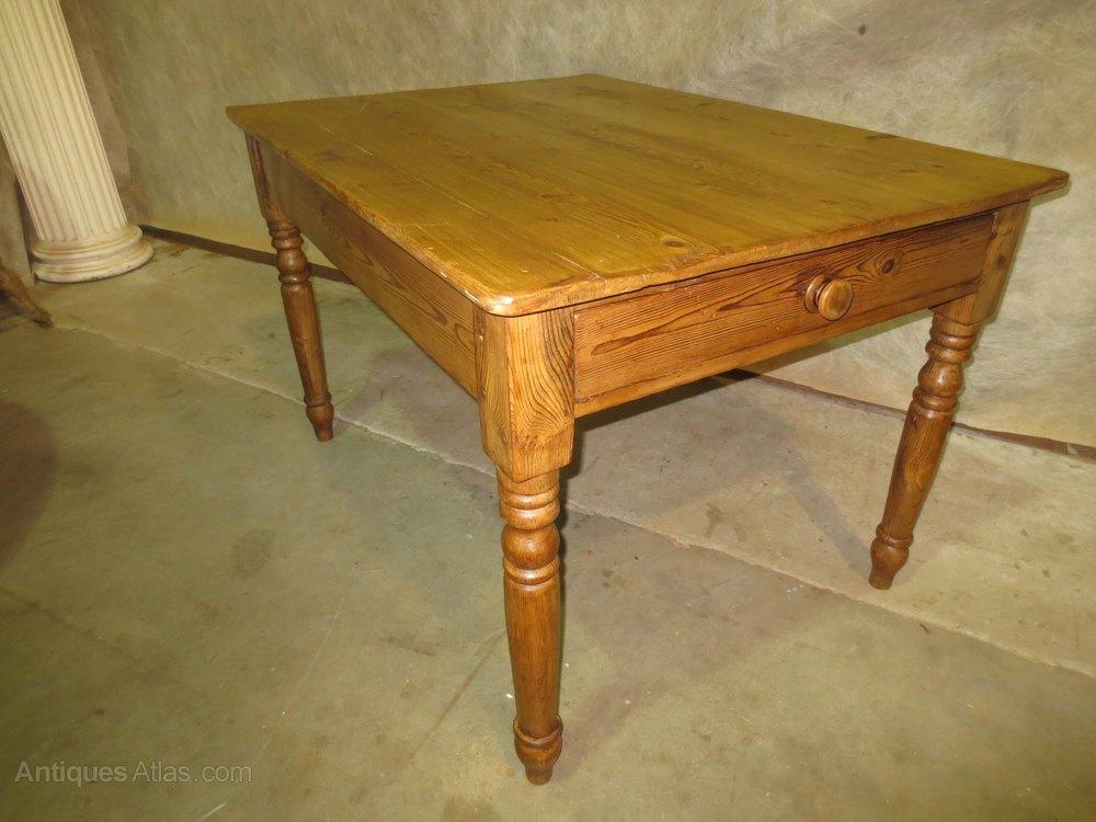 vintage pine kitchen tables photo - 3