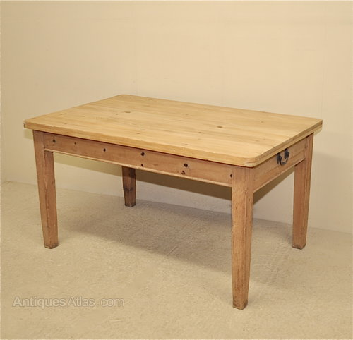vintage pine kitchen tables photo - 6