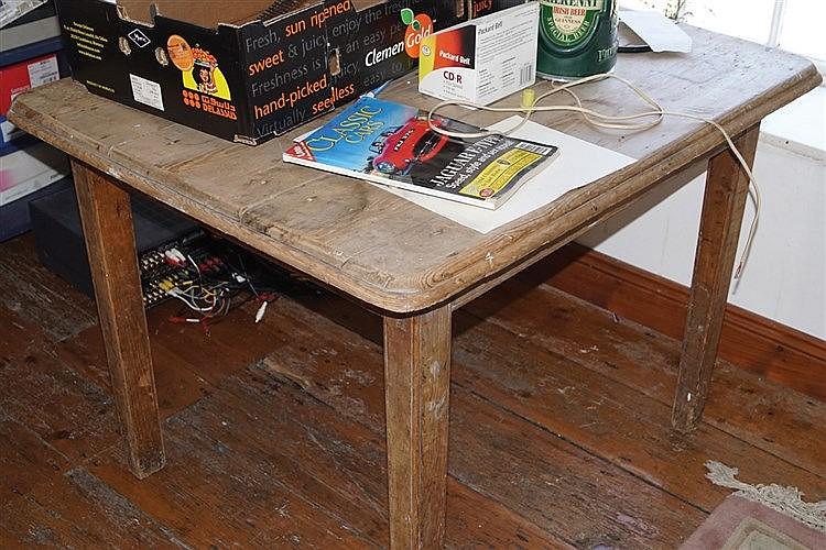 vintage pine kitchen tables photo - 7