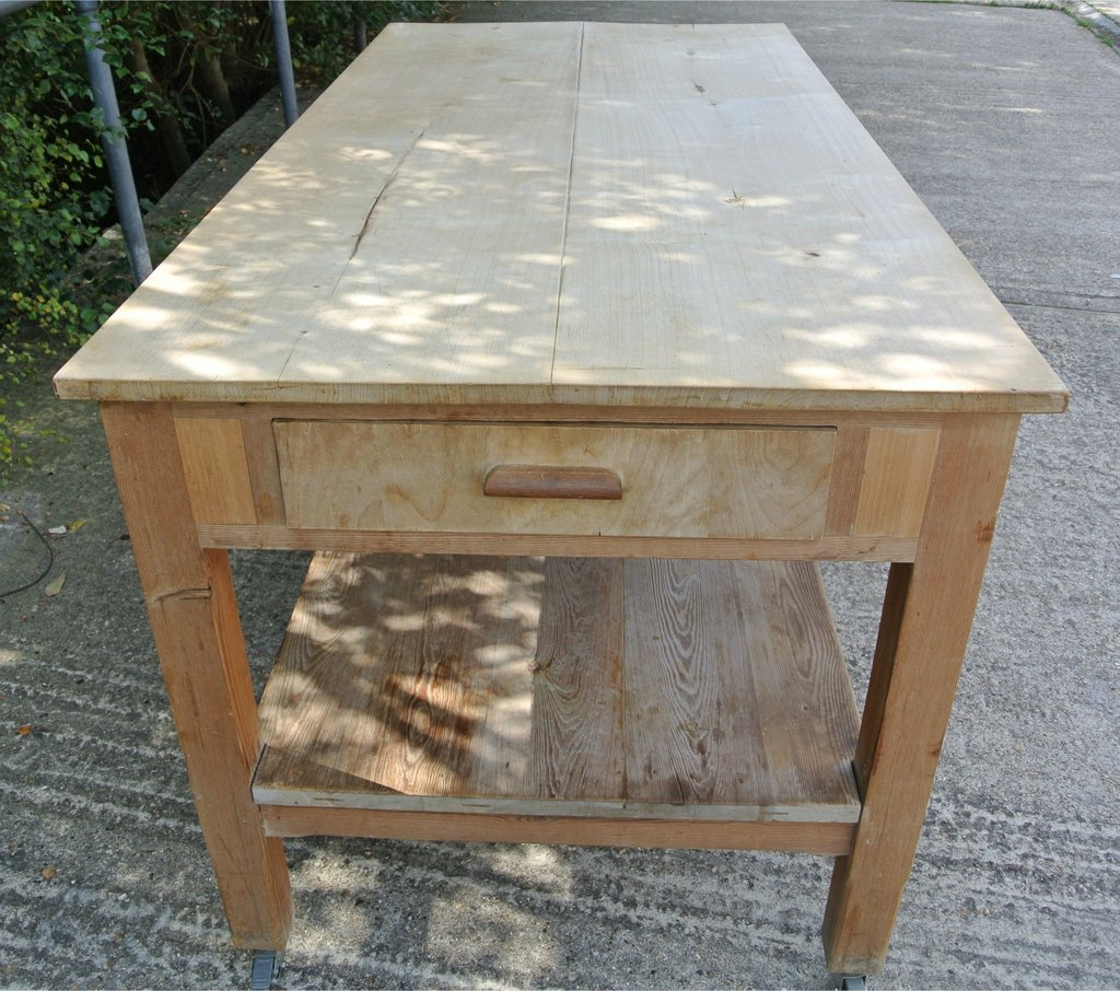 vintage pine kitchen tables photo - 8