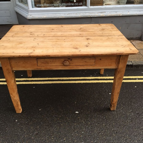 vintage pine kitchen tables photo - 9