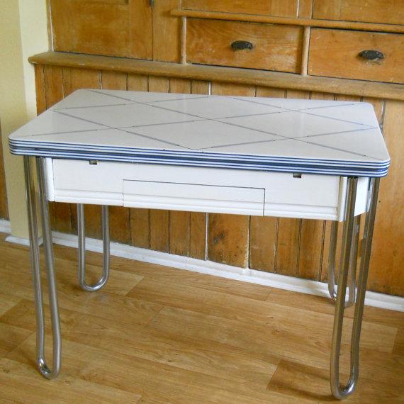 vintage porcelain kitchen tables photo - 7