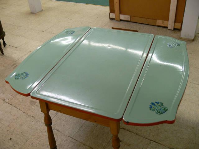 vintage porcelain kitchen tables photo - 9