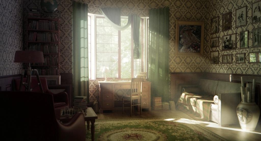 vintage room wallpaper photo - 1
