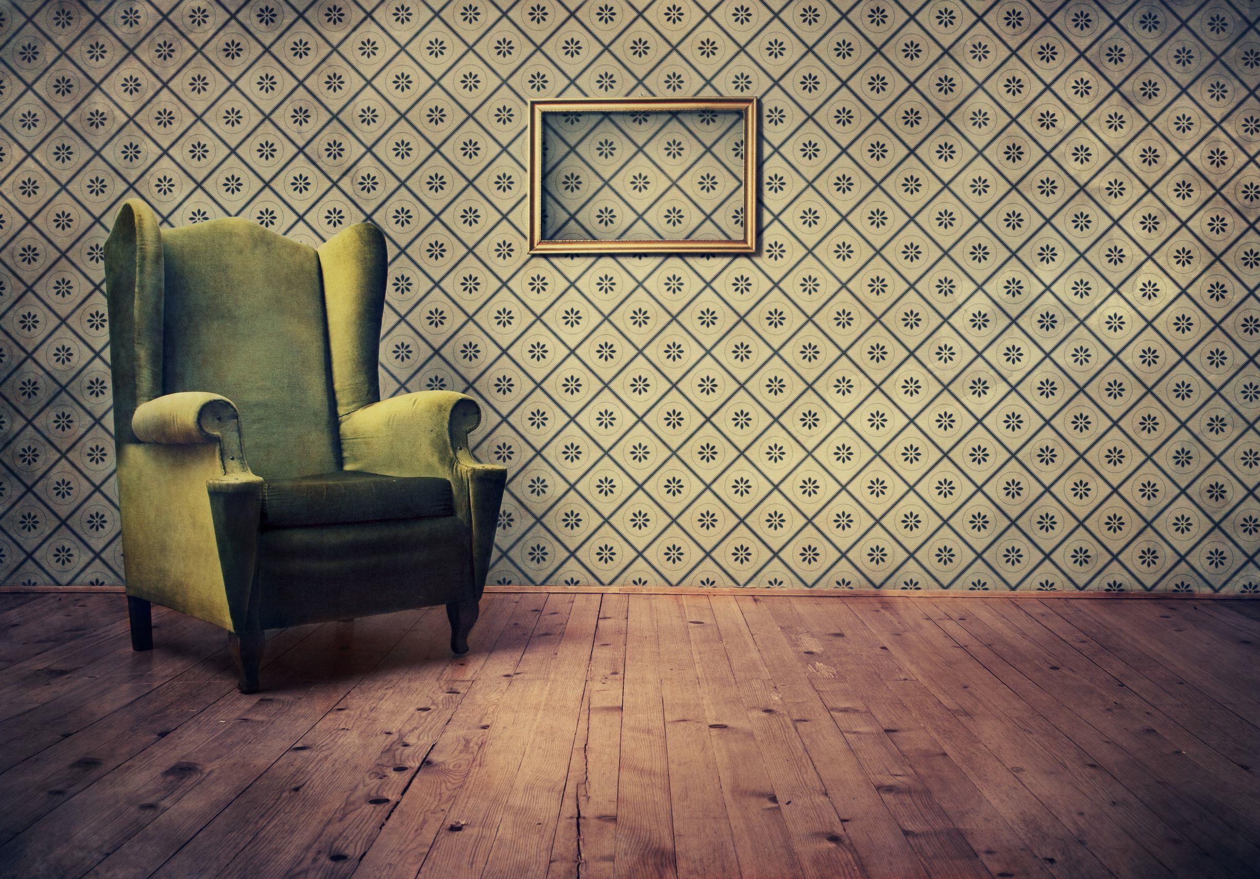 vintage room wallpaper photo - 2