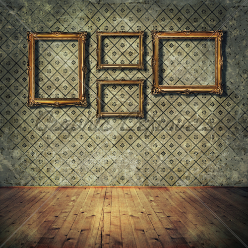 vintage room wallpaper photo - 4