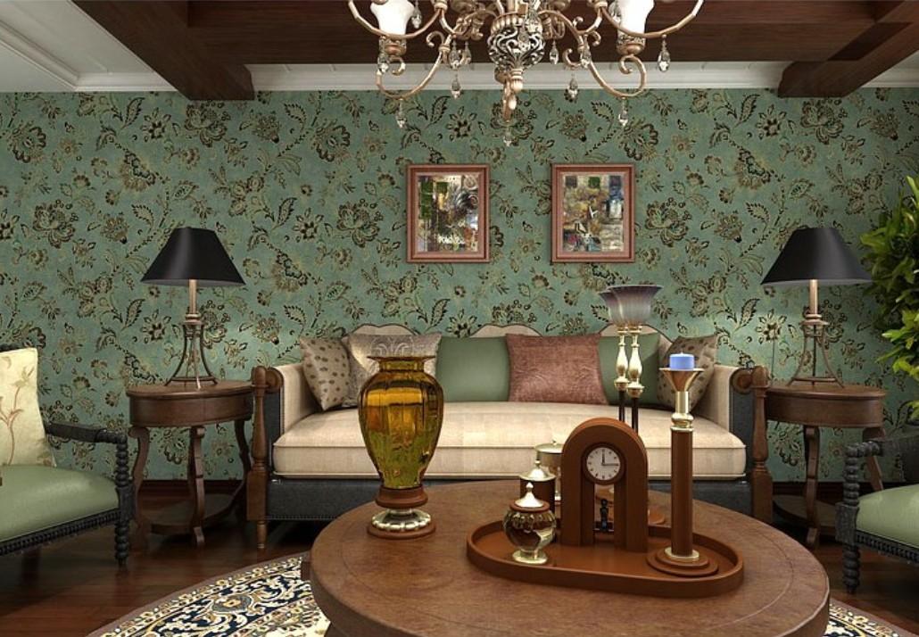 vintage room wallpaper photo - 5