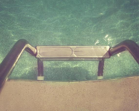 vintage swimming pool photo - 1