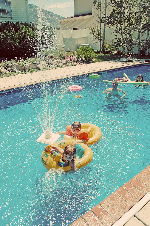 vintage swimming pool photo - 2