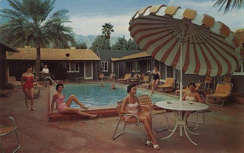 vintage swimming pool photo - 3