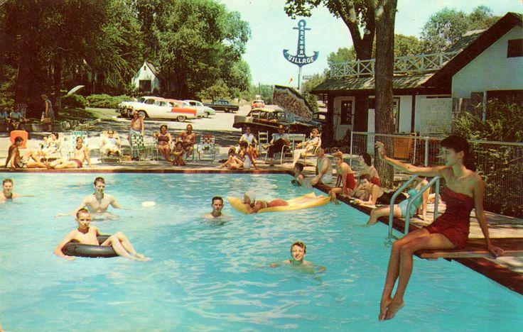 vintage swimming pool photo - 8