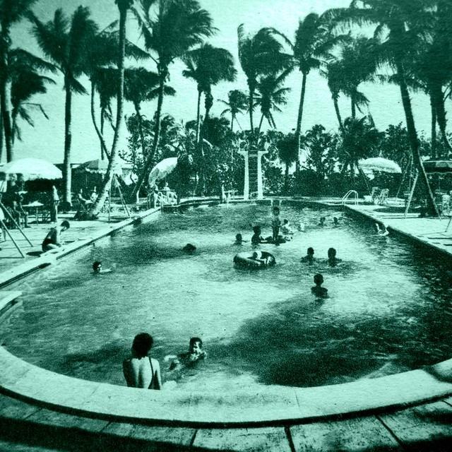 vintage swimming pool art photo - 4