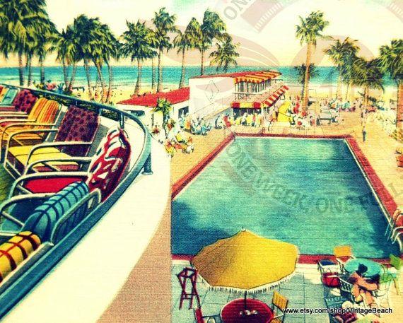 vintage swimming pool art photo - 5