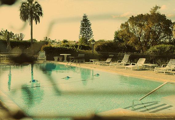 vintage swimming pool art photo - 6