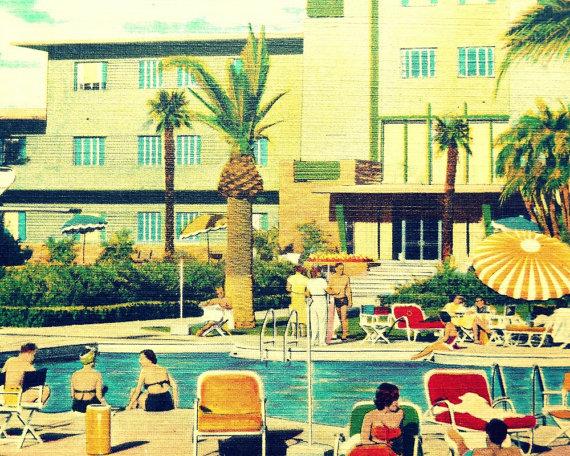 vintage swimming pool art photo - 8