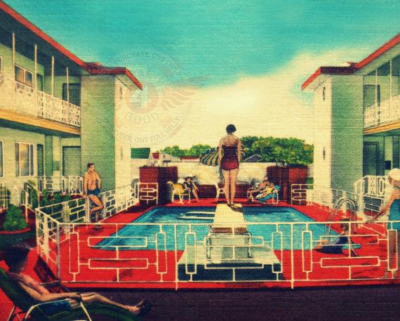 vintage swimming pool art photo - 9