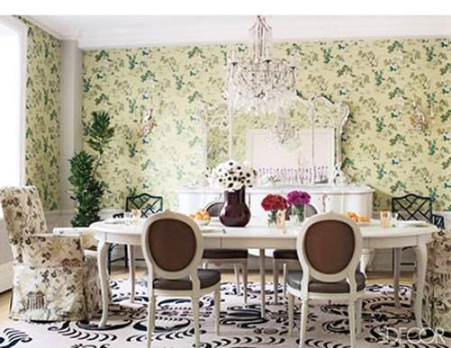 vintage wallpaper for dining room photo - 1