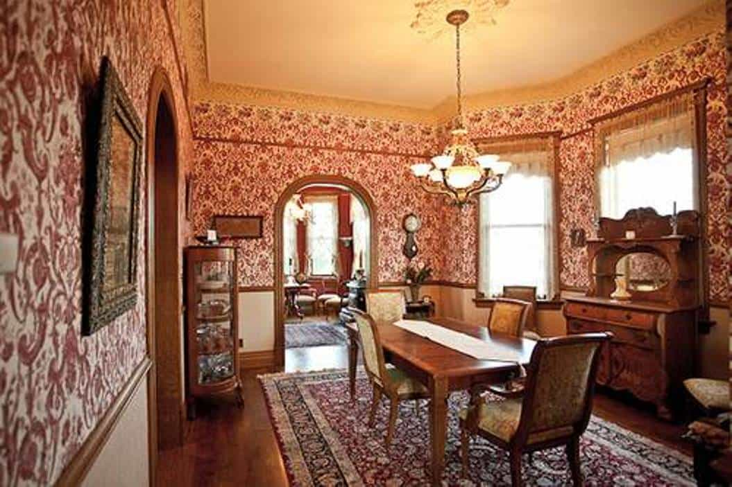 vintage wallpaper for dining room photo - 10