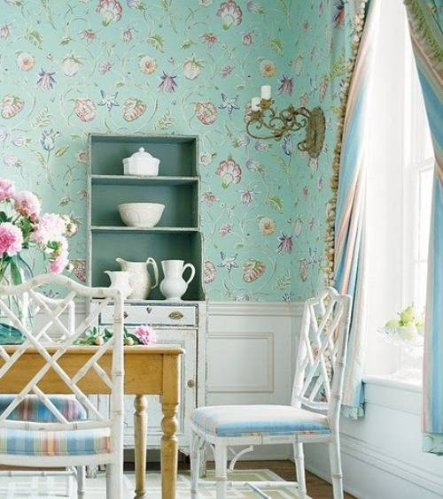 vintage wallpaper for dining room photo - 7