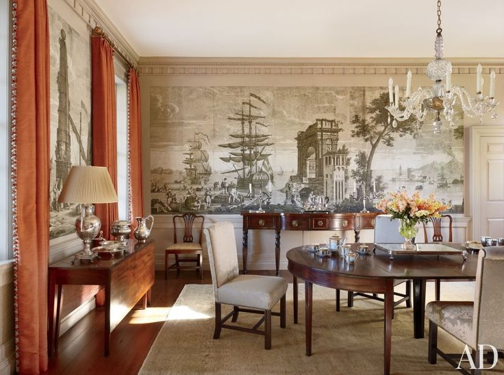 vintage wallpaper for dining room photo - 8