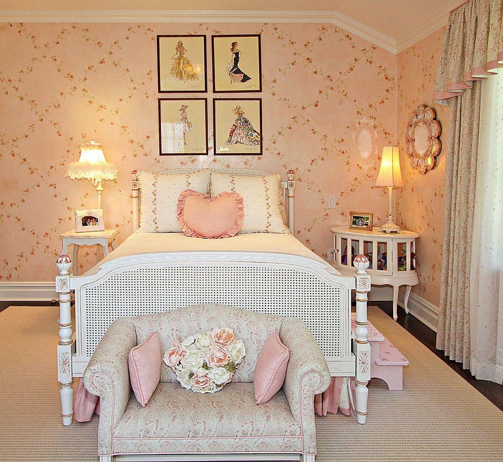 vintage wallpaper for girls room photo - 10
