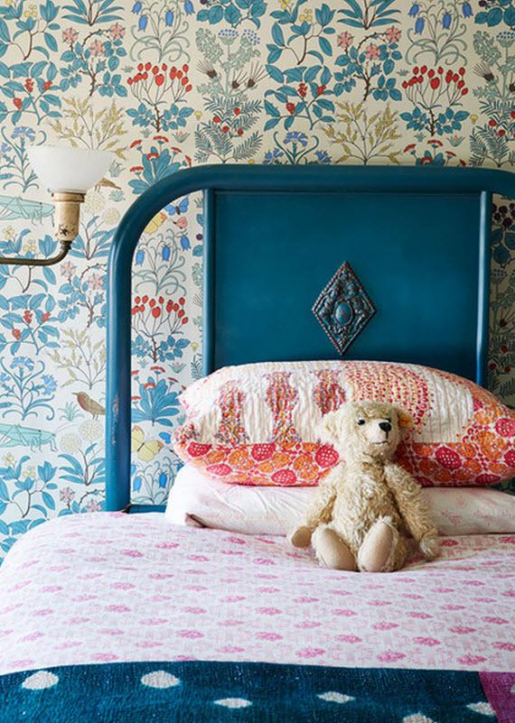 vintage wallpaper for girls room photo - 3