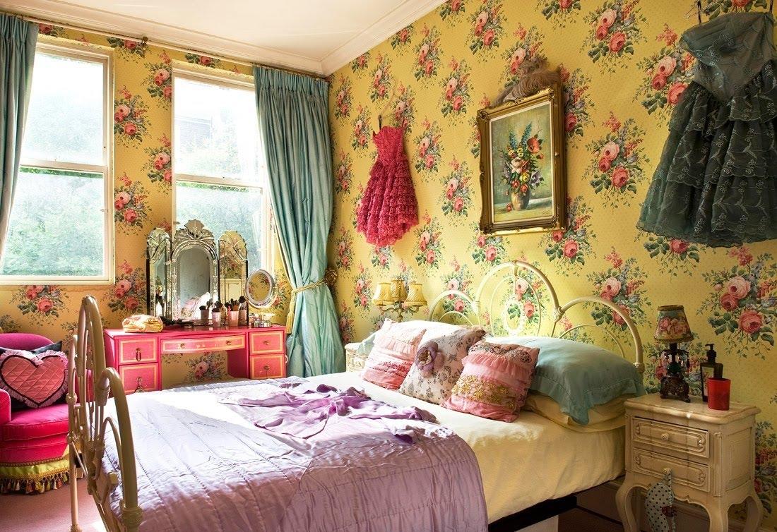 vintage wallpaper for girls room photo - 6