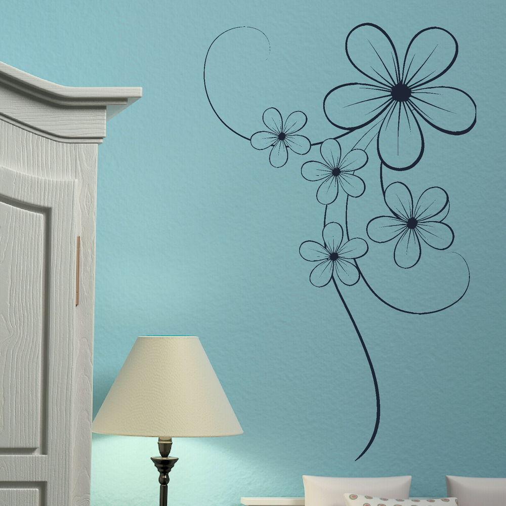 vinyl wall stickers flowers photo - 1