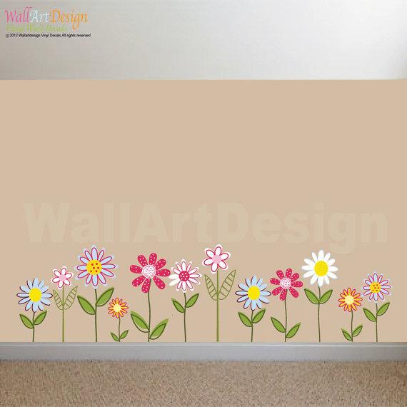 vinyl wall stickers flowers photo - 3