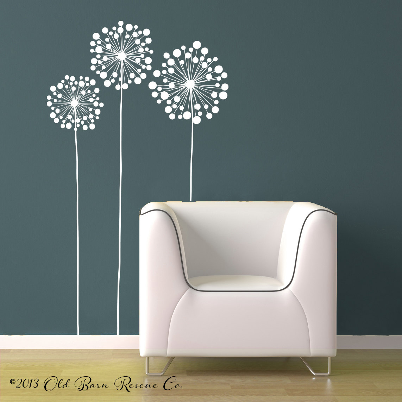 vinyl wall stickers flowers photo - 4