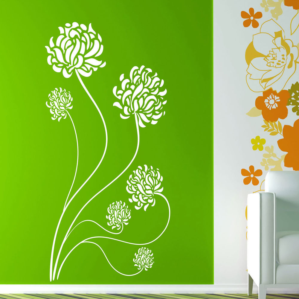 vinyl wall stickers flowers photo - 5