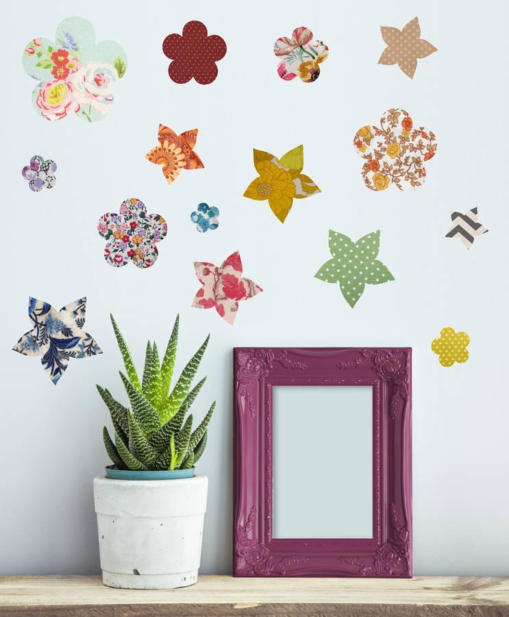vinyl wall stickers flowers photo - 7