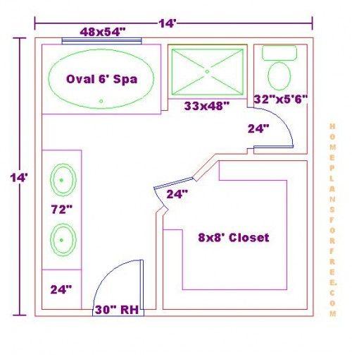 walk in closet bathroom plans photo - 7