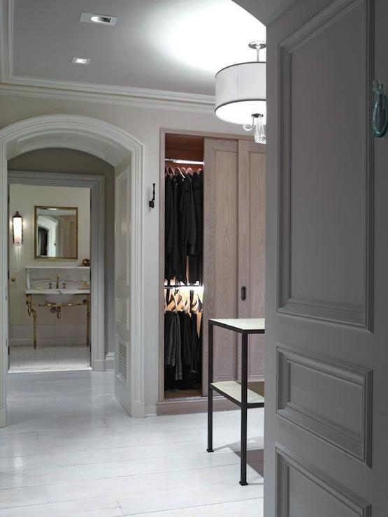 walk in closet design and bathroom photo - 10