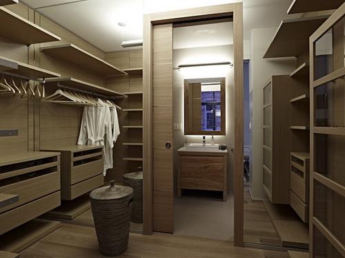 walk in closet design and bathroom photo - 6