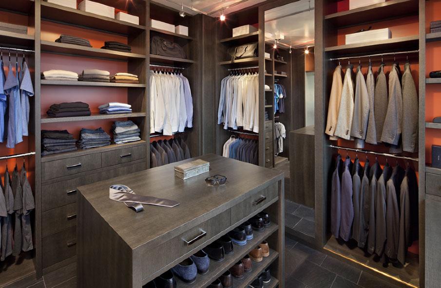 walk in closet design for men photo - 2