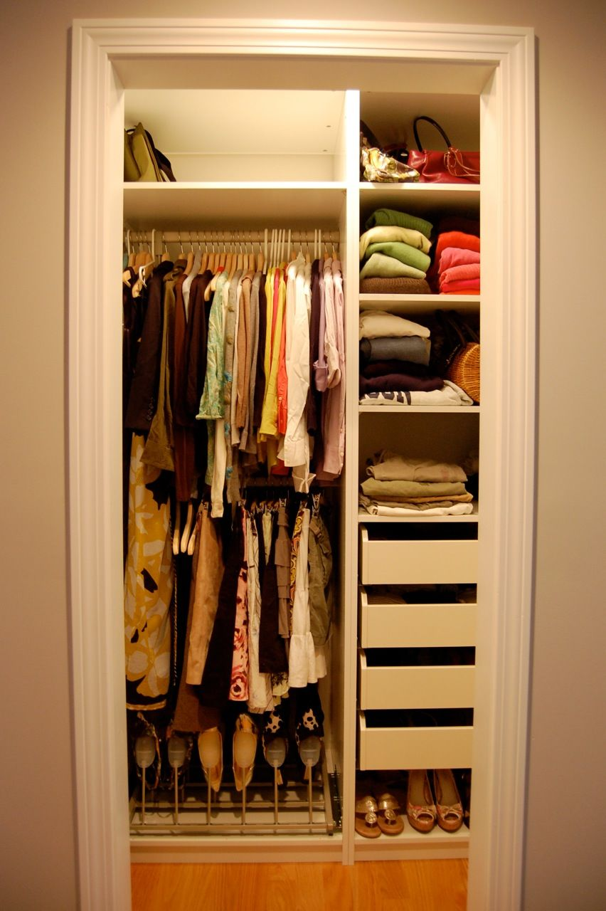 walk in closet design for small spaces photo - 7