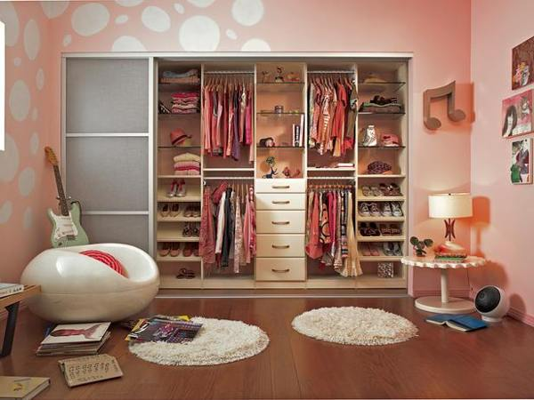 walk-in closet ideas for girls photo - 10