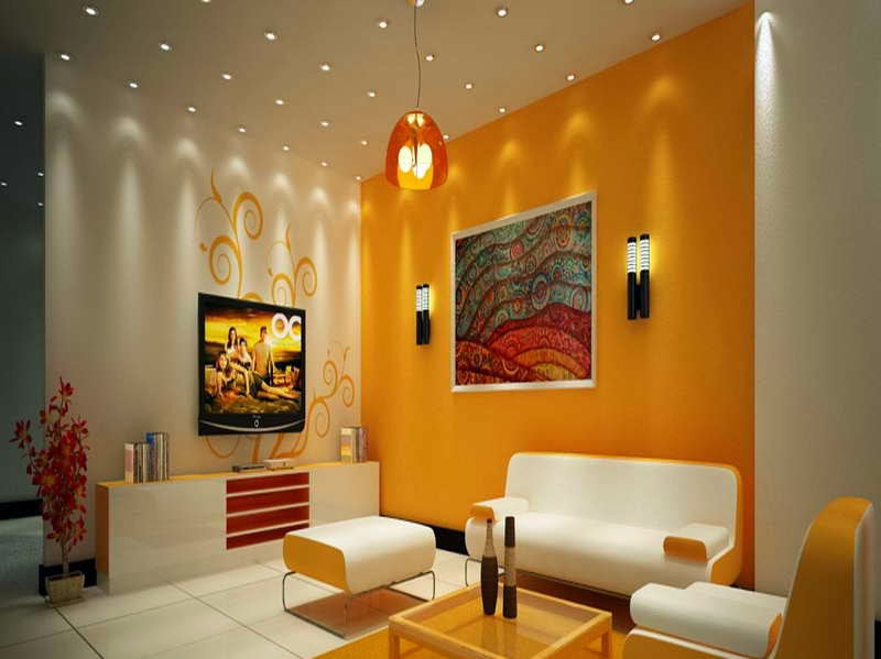 Attirant Wall Colour Combination For Living Room Photo   1