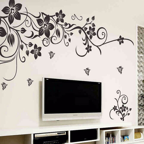 wall decor stickers flowers photo - 7