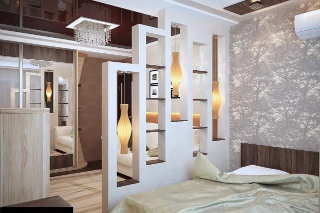 wall divider bedroom photo - 7