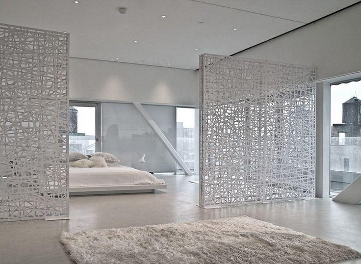 wall divider bedroom photo - 9