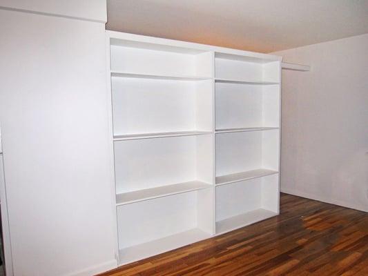 wall divider bookshelf photo - 10