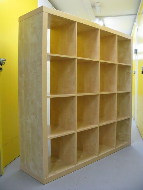wall divider bookshelf photo - 3