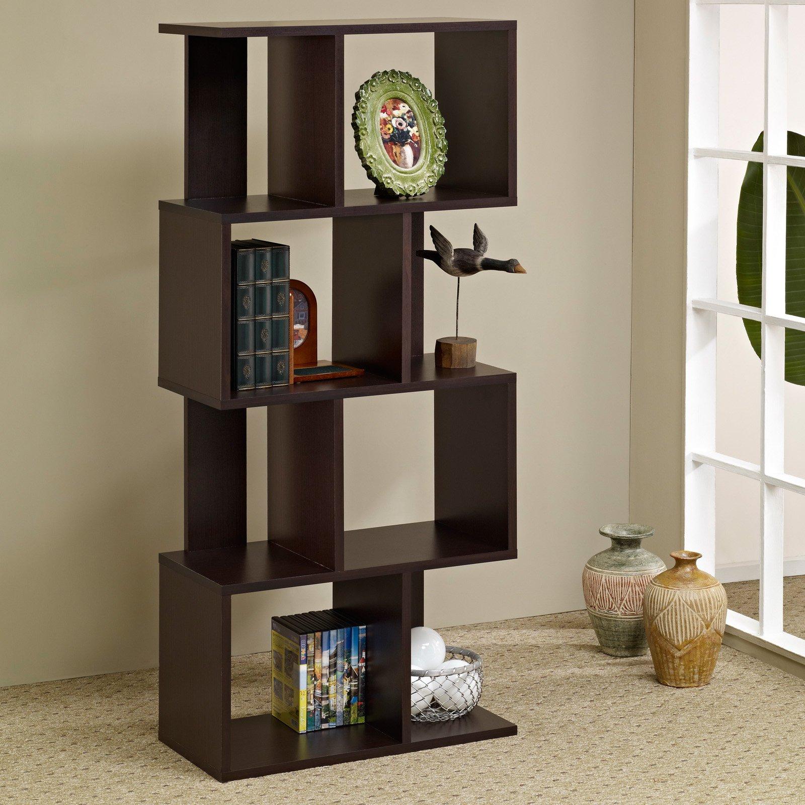 wall divider bookshelf photo - 9