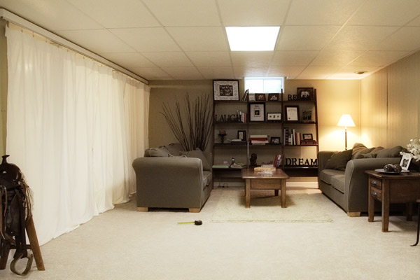 wall dividers for basements photo - 1