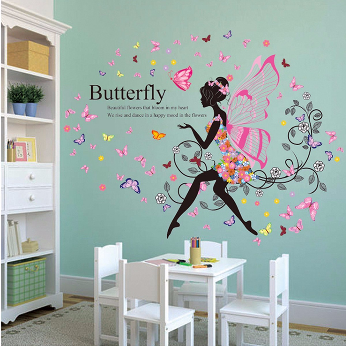 wall flower stickers for girls photo - 10